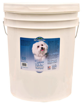 Super White Coat Brightener Shampoo, 5 gallon