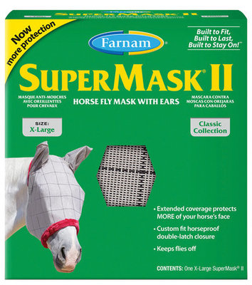 SuperMask II Classic Fly Mask with Ears, XL