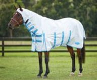 Sweet Itch Shield Combo Neck Sheet, White/Blue