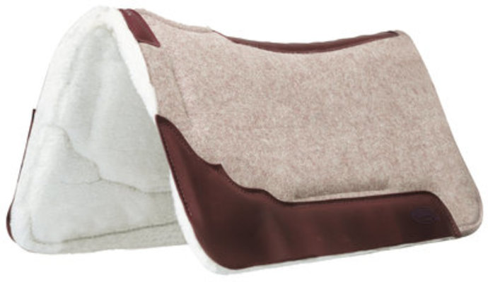 Synergy Contoured EVA Sport Foam Wool Saddle Pad, Merino Wool