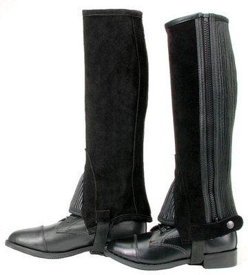 Synthetic Suede Half Chaps, Small