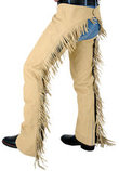 Synthetic Luxury Suede Equitation Chaps, Sand