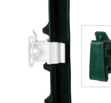 T-Post Universal Insulator, Green 20 pack