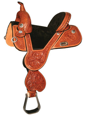 Tammy Fischer Daisy Signature Treeless Barrel Saddle, Wide