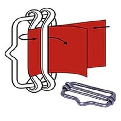 Polytape End Buckle, pkg of 3