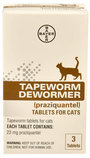 Bayer Tapeworm Cat Dewormer, 3 tablets