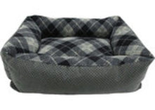 "Tartan Plaid Small Pet Lounger, 20"" x 15"" x 6"", Assorted"
