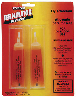 Terminator Fly Attractant, (2) 15 mL tubes