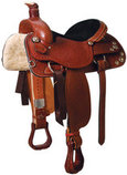 "Texas Star Ranch Roper Chestnut Saddle, 17"" Seat"