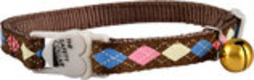 The Cat Safety Collar with Argyle Pattern