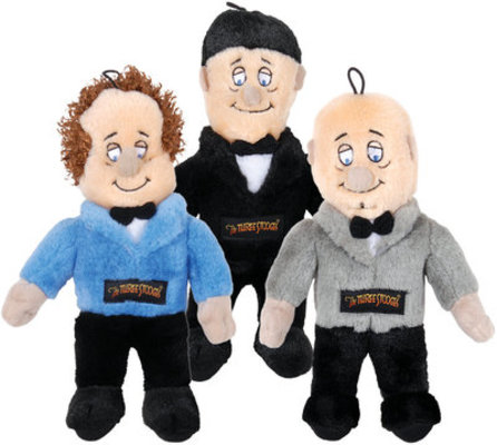 The Three Stooges Plush Dog Toys with Real Voices
