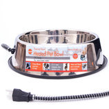 K&H Heated Stainless Steel Pet Bowl, 120 oz