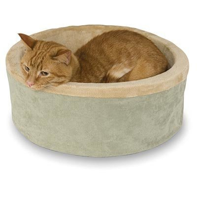 K&H  Thermo-Kitty Heated Cat Bed, Sage