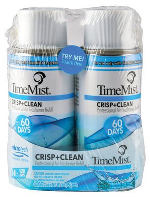 TimeMist MicroTech Crisp & Clean Fragrance Refill, 2 pack