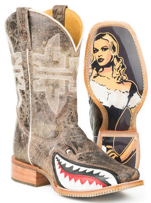 "Tin Haul ""Toastin' A Gnarly Shark"" Men's Boot"