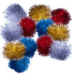 12-pack Tinsel Balls