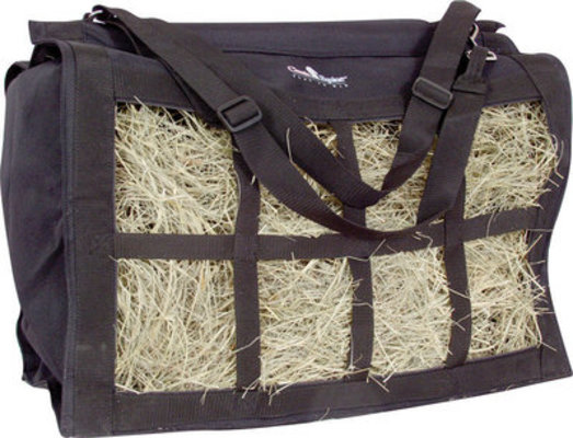 Classic Equine Top Load Hay Bag, Black