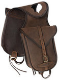 Tough 1 Soft Leather Horn Saddle Bag