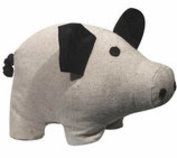 Tough Canvas Animal Dog Toys with Squeaker