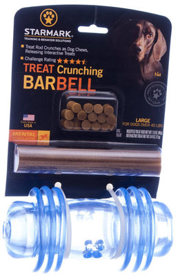 Treat Crunching Toys, (Large, Barbell)
