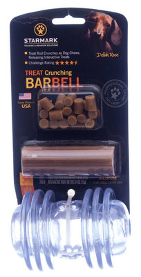 Treat Crunching Barbell Toys
