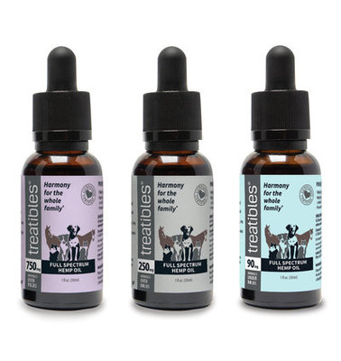 Treatibles Full Spectrum Hemp Oil Dropper Bottle, 30 mL