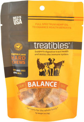 7 ct Treatibles Large Dog Grain-Free Hemp Hard Chews