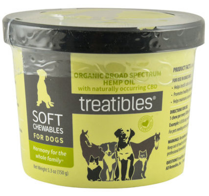 Treatibles Original Soft Chews for Dogs, 5.3 oz