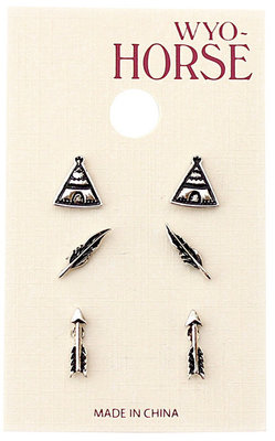 Tribal Earrings, 3 pack