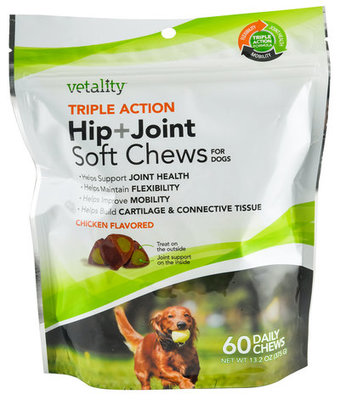 Triple Action Hip + Joint Soft Chews for Dogs, 60 ct