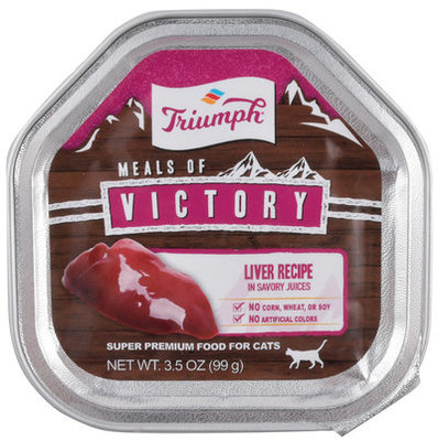 Triumph Meals of Victory Liver Recipe in Savory Juices Cat Food