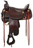 Tucker High Plains Hand Tooled Trail Saddle, Wide