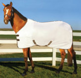 TuffRider Comfy Mesh Fly Sheet, White/Black Trim