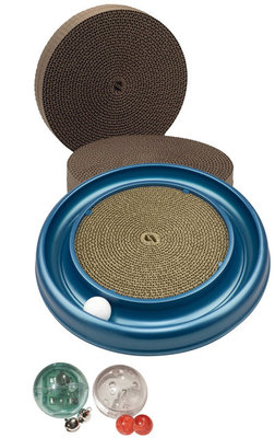Turbo Scratcher Cat Toy Complete Set