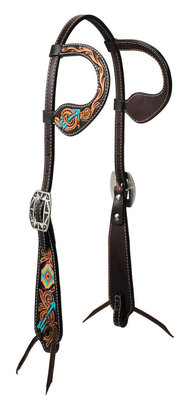 Turquoise Cross Navajo Arrow Double Ear Headstall