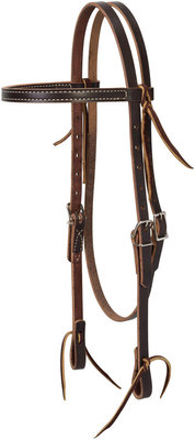 Turquoise Cross Skirting Leather Browband Headstall