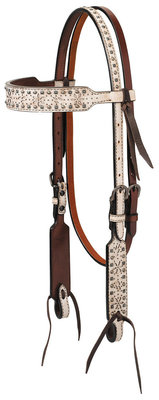 Turquoise Cross Snow Star Browband Headstall