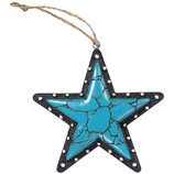 Turquoise Star Ornament
