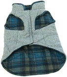 Blue Reversible Tweed/Fleece Coat
