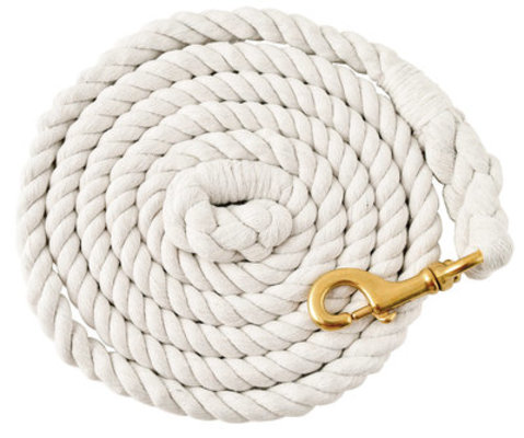 Colorful Cotton Lead Ropes w/Brass Bolt Snap