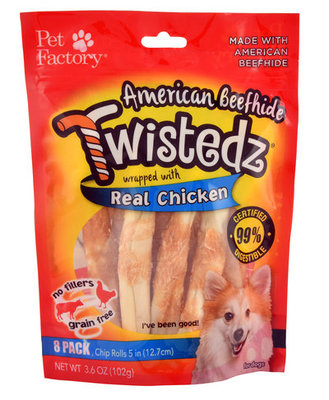 Twistedz American Beefhide Chip Rolls with Real Meat Wrap