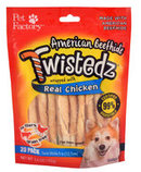 "Twistedz 5"" Beefhide Twist Sticks Wrapped with Real Meat, 20-pk"