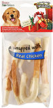 "Twistedz 6"" Holiday Beefhide Cane w/ Meat Wrap, 4-pk"