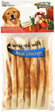 Twistedz Holiday Beefhide Thin Rolls with Meat Wrap