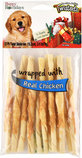 "Twistedz 6"" Holiday Beefhide Twist Sticks w/ Meat Wrap, 12-pk"
