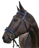 Uniquely English Deluxe Dressage Bridle, Black