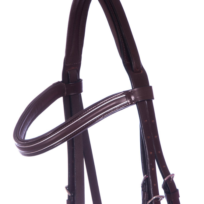 Uniquely English Padded Bridle Brown Jeffers Pet