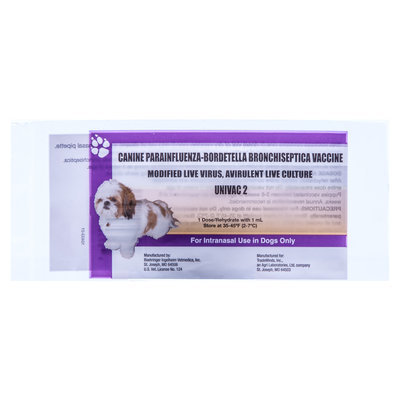 Univac 2 Kennel Cough Vaccine - 1 Dose