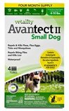 Vetality Avantect II Flea & Tick Topical for Dogs, 4-pack