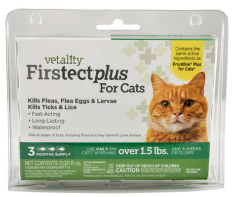 Vetality Firstect Plus for Cats, 3-pack